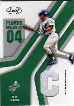 2004 Leaf Players Collection Jersey Green #68 Paul Lo Duca