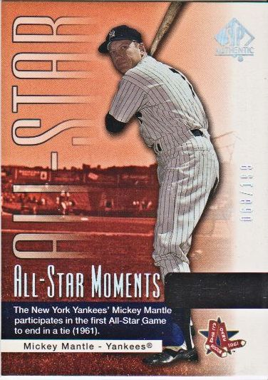 2004 SP Authentic #144 Mickey Mantle ASM
