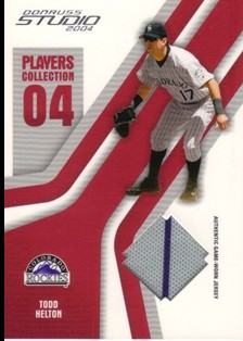 2004 Studio Players Collection Jersey #93 Todd Helton Away
