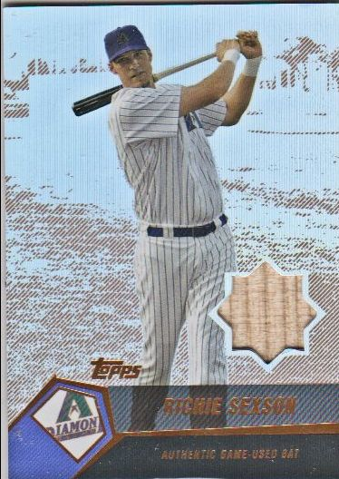 2004 Topps Clubhouse Copper Relics #RS Richie Sexson Bat