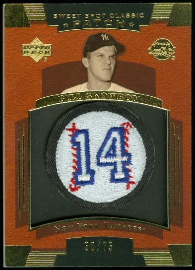 2004 Sweet Spot Classic Patch 75 #SK Bill Skowron #14