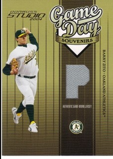 2004 Studio Game Day Souvenirs Position #61 Barry Zito Jsy/200