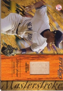2004 Studio Masterstrokes Material Bat #19 Alfonso Soriano
