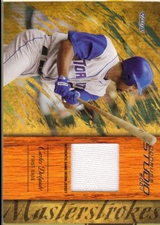 2004 Studio Masterstrokes Material Jersey #8 Carlos Delgado/250