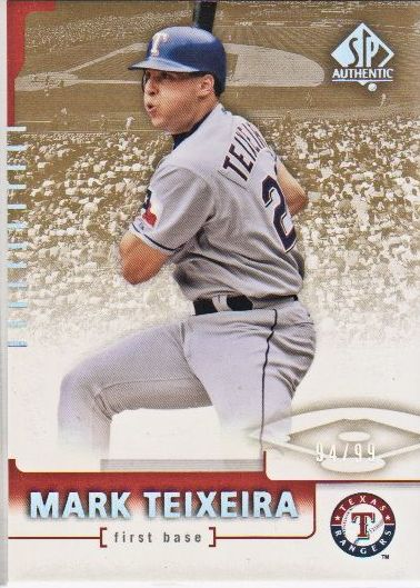 2004 SP Authentic 199/99 #67 Mark Teixeira