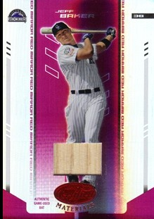 2004 Leaf Certified Materials Mirror Bat Red #92 Jeff Baker/250