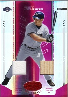 2004 Leaf Certified Materials Mirror Combo Red #68 Geoff Jenkins Bat-Jsy