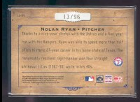 2004 Leather and Lumber Lumber Cuts #29 Nolan Ryan/96 back image