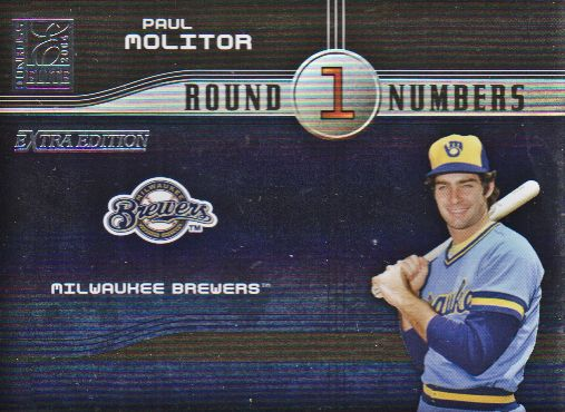 2004 Donruss Elite Extra Edition Round Numbers #4 Paul Molitor
