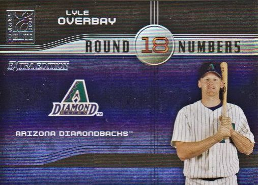 2004 Donruss Elite Extra Edition Round Numbers #14 Lyle Overbay