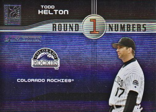 2004 Donruss Elite Extra Edition Round Numbers #16 Todd Helton