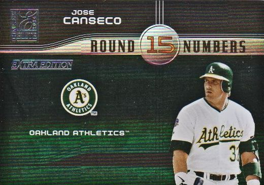 2004 Donruss Elite Extra Edition Round Numbers #34 Jose Canseco