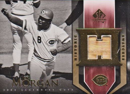 2004 SP Legendary Cuts Historic Swatches #JM Joe Morgan Bat