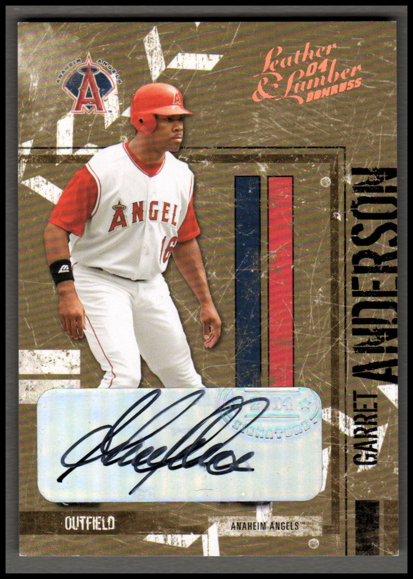 2004 Leather and Lumber Signatures Bronze #2 Garret Anderson/25