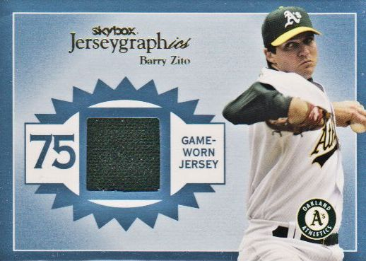2004 SkyBox Autographics Jerseygraphics Blue #BZ Barry Zito