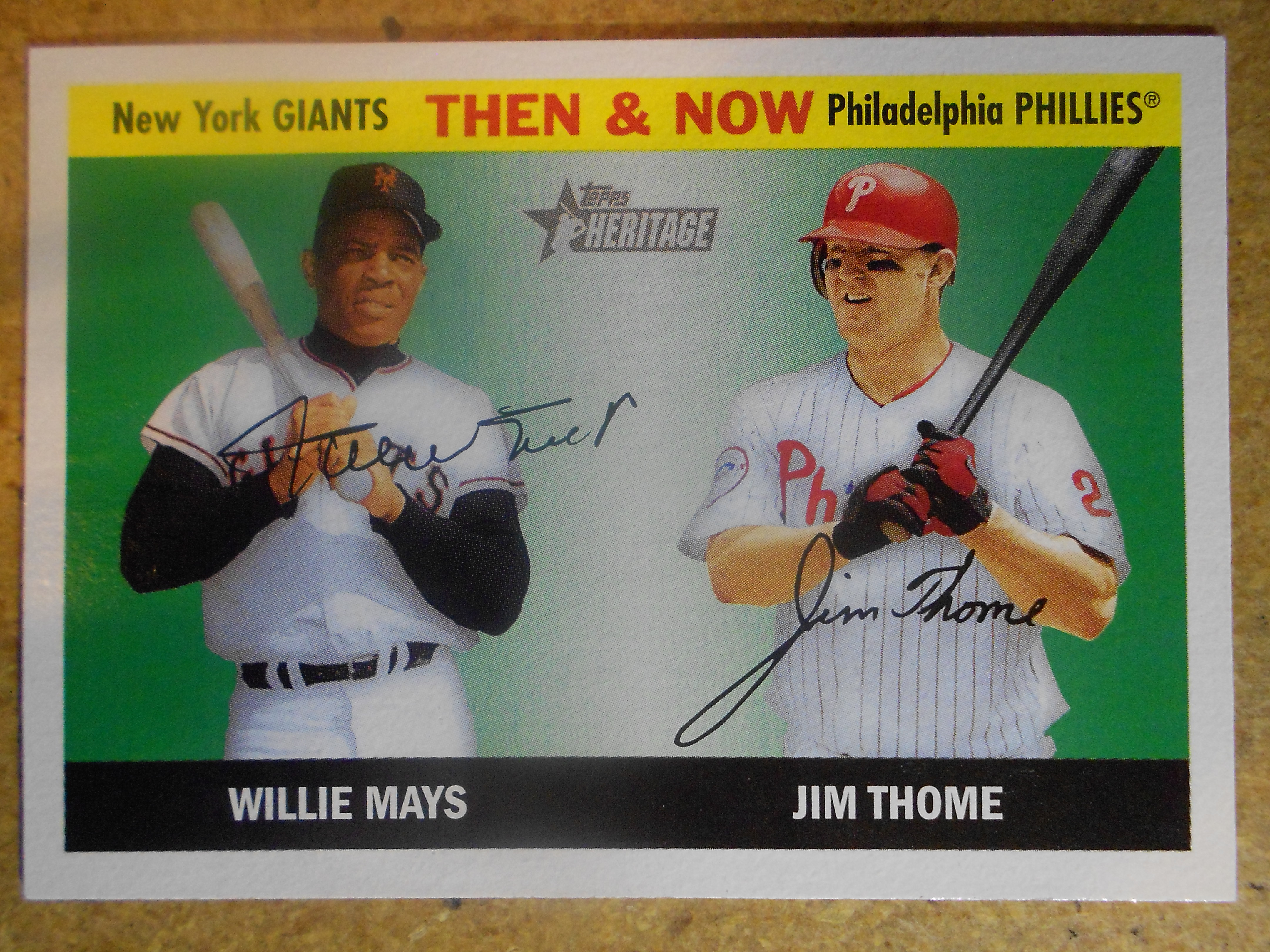 2004 Topps Heritage Then and Now #TN1 W.Mays/J.Thome