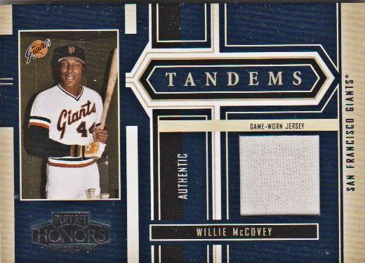 2004 Playoff Honors Tandem Material #12 Willie McCovey Jsy/Reggie Jackson Jsy/100