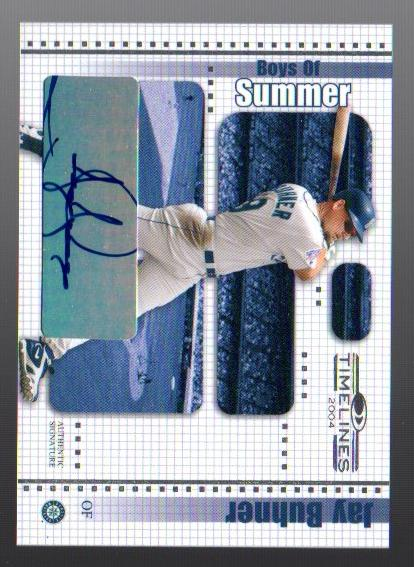 2004 Donruss Timelines Boys of Summer Autograph #17 Jay Buhner