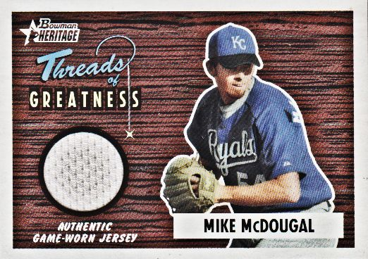 2004 Bowman Heritage Threads of Greatness #MCD Mike McDougal Jsy F