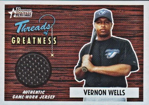 2004 Bowman Heritage Threads of Greatness #VW Vernon Wells Jsy D