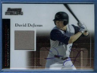 2004 Bowman Sterling #DD David DeJesus AU Jsy