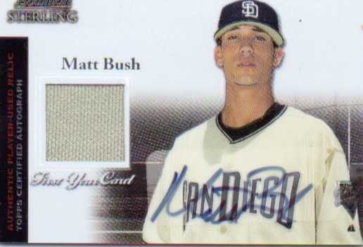 2004 Bowman Sterling #MB Matt Bush AU Jsy RC