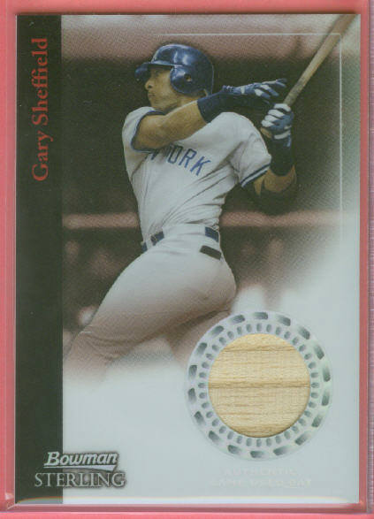 2004 Bowman Sterling Refractors #GS Gary Sheffield Bat