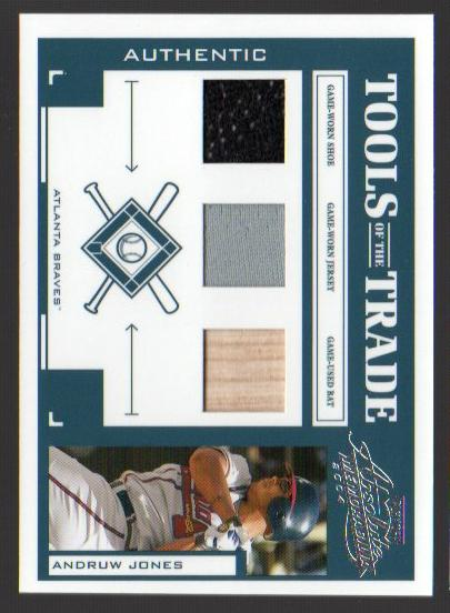 2004 Absolute Memorabilia Tools of the Trade Material Trio #12 Andruw Jones A/50