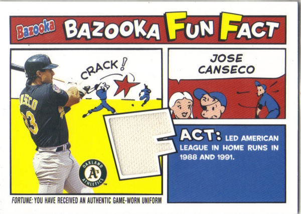 2005 Bazooka Fun Facts Relics #JC Jose Canseco Jsy C
