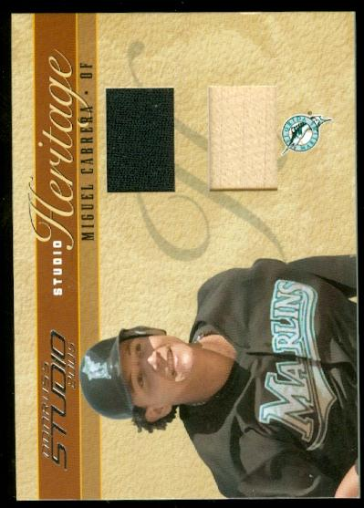 2005 Studio Heritage Combo #12 Miguel Cabrera Bat-Jsy/50