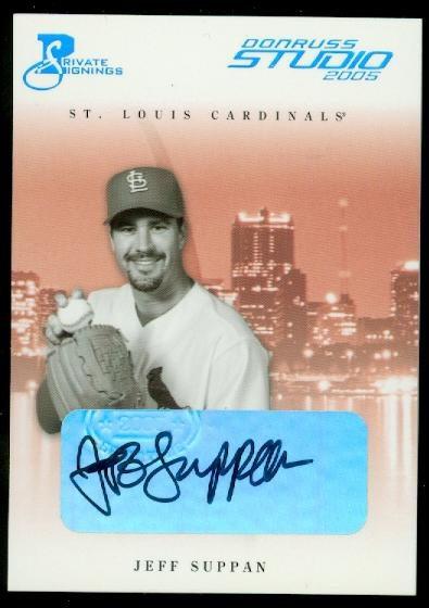 2005 Studio Private Signings Platinum #260 Jeff Suppan