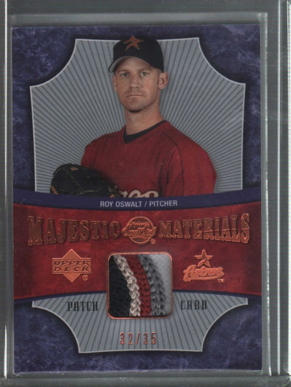 2005 Sweet Spot Majestic Materials Patch #RO Roy Oswalt