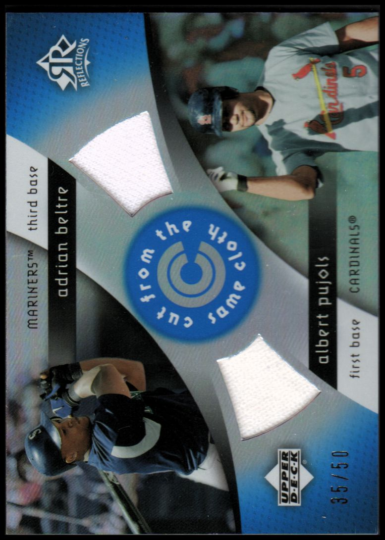 2005 Reflections Cut From the Same Cloth Dual Jersey Blue #AA A.Beltre/A.Pujols