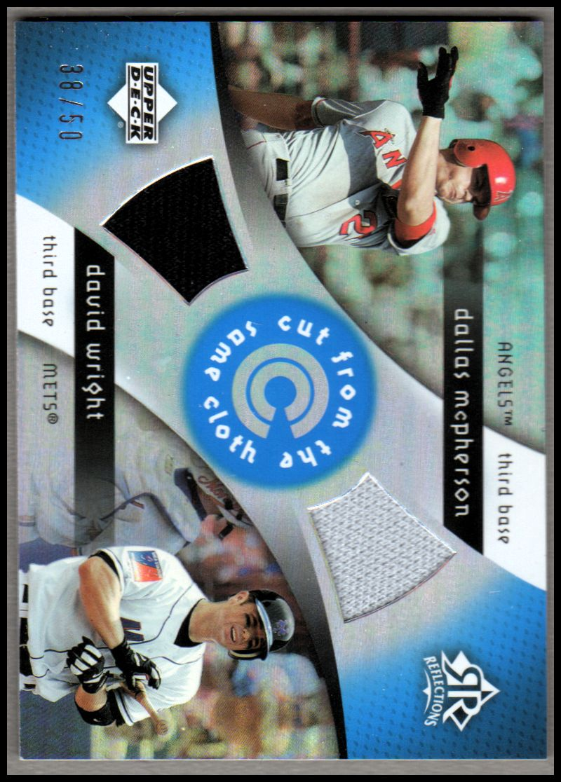 2005 Reflections Cut From the Same Cloth Dual Jersey Blue #MW Dallas McPherson/David Wright