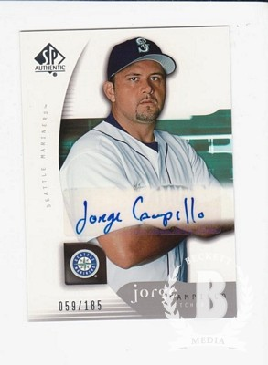 2005 SP Authentic #135 Jorge Campillo AU RC