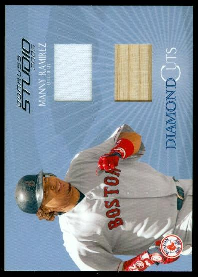 2005 Studio Diamond Cuts Combo #2 Manny Ramirez Bat-Jsy/50