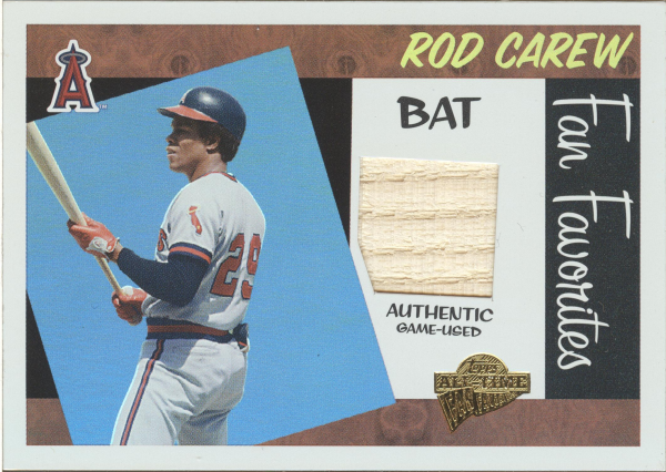 2005 Topps All-Time Fan Favorites Relics Rainbow #RC Rod Carew Bat