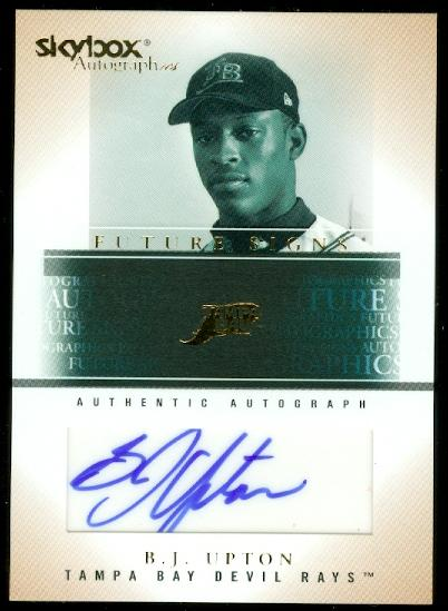 2005 SkyBox Autographics Future Signs Autograph Gold #BU B.J. Upton