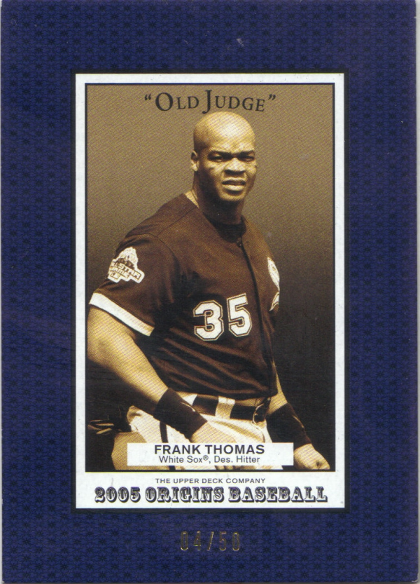 2005 Origins Old Judge Blue #77 Frank Thomas