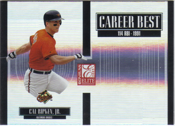 2005 Donruss Elite Career Best #8 Cal Ripken