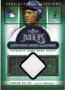 2005 Classic Clippings MLB Game Worn Jersey Collection #21 Adrian Beltre