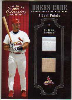 2005 Donruss Classics Dress Code Materials #1 Albert Pujols Bat-Jsy/100