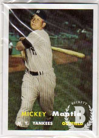 2006 Bazooka Mickey Mantle Jumbo Reprints #1957 Mickey Mantle 1957