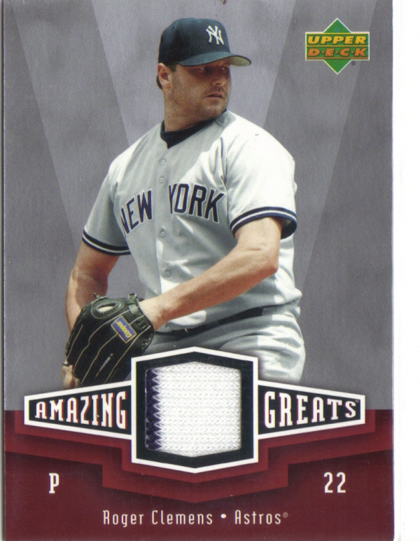 2006 Upper Deck Amazing Greats Materials #RC Roger Clemens Jsy