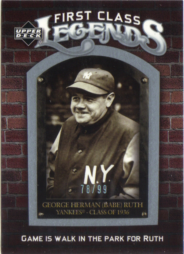 2006 Upper Deck First Class Legends Silver Spectrum #FCL2 Babe Ruth