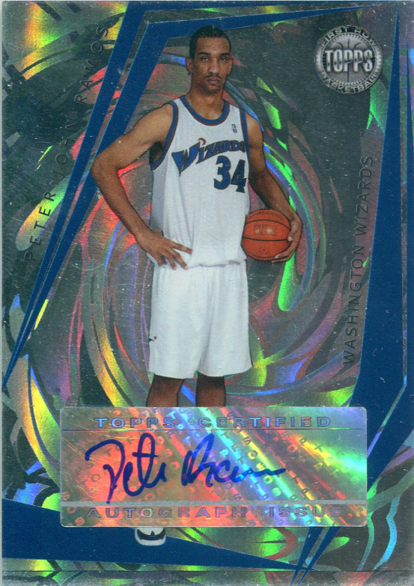 2005-06 Topps First Row Signature Dunk #PJR Peter John Ramos/190