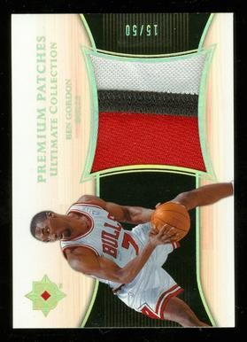 2005-06 Ultimate Collection Premium Patches #PPBG Ben Gordon/50