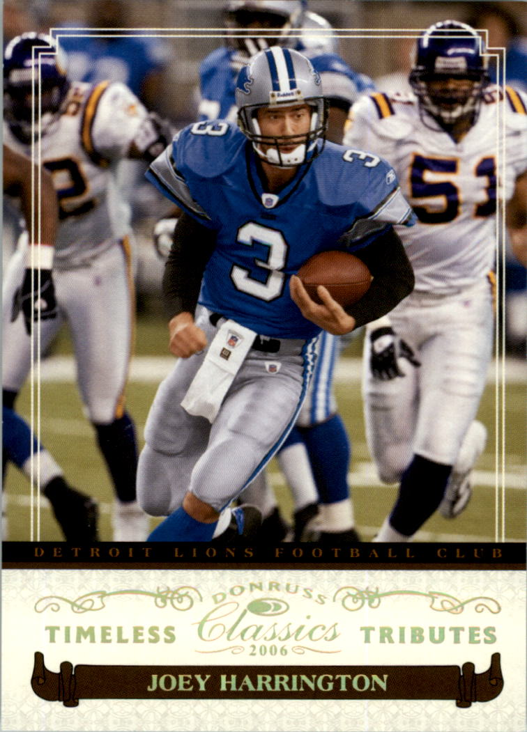 2006 Donruss Classics Timeless Tributes Gold #34 Joey Harrington