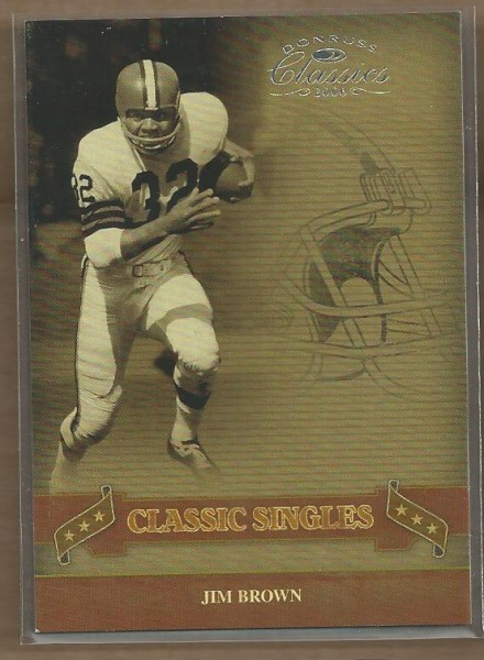 2006 Donruss Classics Classic Singles Silver #7 Jim Brown