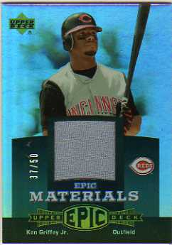 2006 Upper Deck Epic Materials Dark Green #KG1 Ken Griffey Jr. Jsy/50
